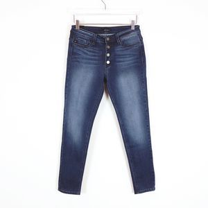 KanCan Button Fly Skinny Jeans Dark Wash Size 29